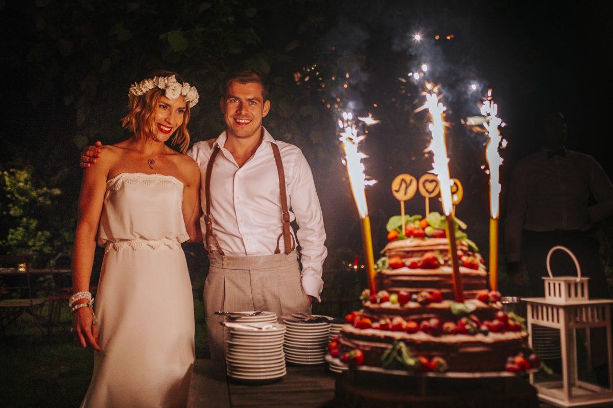 tort - atrakcja weselna